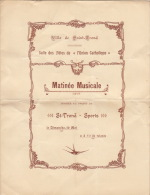 Programme Ville De Saint Trond Sport Salle Union Catholique Matinée Musicale - Programmes
