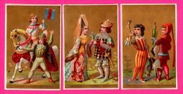 6 Chromos Dorés - Prince Et Princesse - Fauconnier - Archers - Seigneur & Châtelaine - Fauconnier - Héraut D´armes - XVe - Kaufmanns- Und Zigarettenbilder
