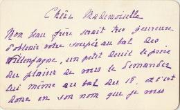 Carton Pauline De Moffarts Bal Chez Les Villenfagne Recto/verso - Announcements