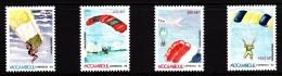 Mozambique MNH Scott #1187-#1190 Set Of 4 Parachuting - Mozambique