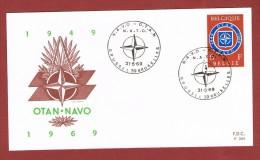 NATO  /OTAN  FDC Brussels 31/5/1969 - NAVO