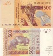New  NIGER  500 Francs CFA    Pnew   Dated 2013  Unc - Niger