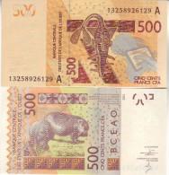 IVORY COAST  500 Francs CFA    P119Ab   Dated 2013   UNC - Côte D'Ivoire