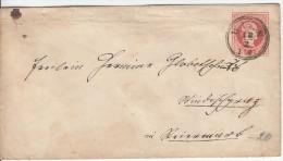 Austria Postal Stationery Letter Cover Travelled 185? Wien To Windischgratz (Slovenjgradec) Bb160222 - Interi Postali