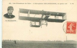 Les Pionniers De L ´Air  - L ´Aéroplane Delagrange ,en Plein Vol              AD207 - ....-1914: Precursori