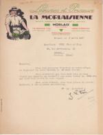 Facture La Morlaisienne à Morlaix Légumes Et Primeurs - 1900 – 1949
