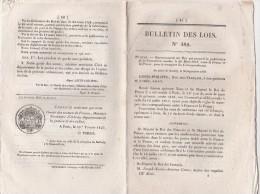 Bulletin Des Lois N° 482 - 1837 Convention Postes Avec  Prusse, Prohibition Des Pistolets De Poche - Decrees & Laws