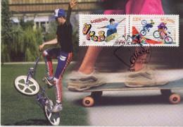 -Vélo Bi Cross,Skateboard-France 2002-  Carte Maximum-