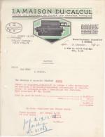 Facture La Maison Du Calcul à Rouen Momentanément Transféré à Evreux En 1941 - France