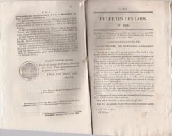 Bulletin Des Lois N° 622 -1839 - 285 Brevets Invention Dont Dents Artificielles, Fusil 10 Coups, Savon Marbré ... - Décrets & Lois