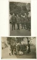 SYRIE : DAMAS -2 Cartes-photo WW 2 -  Marqués Au Dos DAMAS 12/11/1939 Militaires Français & Autochtones  AGFA / GEVAERT - Syria