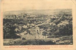 10-221   CPA  TROYES  Vieux  Vue De La Première Gare  Ancien Dévarcadère      Belle Carte - Troyes