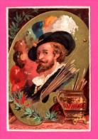 Chromo - Artiste RUBENS - Palette De Peintures - Pinceau - Kaufmanns- Und Zigarettenbilder