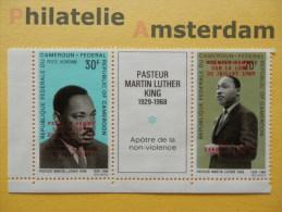 Cameroun 1969, OVERPRINT MARTIN LUTHER KING / SPACE RAUMFAHRT ESPACE: Mi 593 Type II + 597 Type I, ** - Afrika