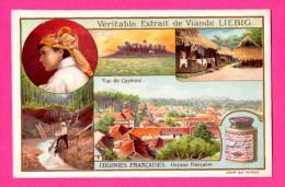 Chromo - LIEBIG - FRAY-BENTOS - Bouillon OXO - Agriculture - Colonies Françaises - Guyane Française - Vue De Cayenne - Liebig