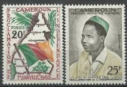 "Cameroun YT 310 Et 311 "" Proclamation De L´Indépendance "" 1960 Neuf** - Camerún (1960-...)"
