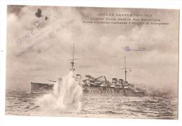 Marcophilie - Cachet Armée D´orient Sous Intendance De La Base De Salonique 1916 Combat Adriatique Guerre Navale 1915 - Guerre 1914-18