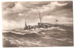 Marcophilie - Cachet Armée D´orient Sous Intendance De La Base De Salonique 1916 Démocratie  Guerre Navale 1915 - Guerre 1914-18