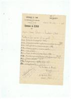 COMMANDE DE FOURNITURES SCOLAIRES COMMUNE DE SERAIN  (AISNE)  1948 - France