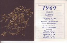 Calendrier Publicitaire 1969 - MAISONNEUVE POITIERS - Small : 1961-70