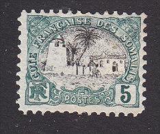 Somali Coast, Scott #52, Mint Hinged, Tadjoura Mosque, Issued 1903 - Côte Française Des Somalis (1894-1967)