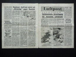 WWII WW2 Propaganda Tract Leaflet Flugblatt G.12a, Luftpost, 21 Marz 1944, FREE SHIPPING WORLDWIDE - Vieux Papiers