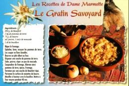 Carte Postale Thème Recettes De Cuisine  -   Les Recettes De Dame Marmotte - Le Gratin Savoyard - Recipes (cooking)