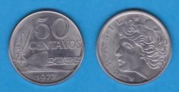 BRASIL  50 CENTAVOS  1.977  Acero   KM#580b     SC/UNC    DL-11.617 - Brasil