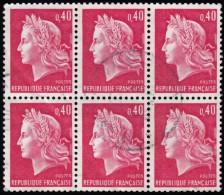 FRANCE - Scott #1231 Marianne Of  Cheffer / Used Block Of 6 Stamps (bk751) - 1967-70 Marianne Of Cheffer