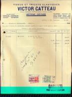 Factuur Facture - Tissus & Tricots - Victor Catteau - Astene Deinze 1936 - Imprimerie & Papeterie
