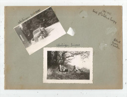 Page D´un Album De Photos, 2 Scans, Allemagne , Uberlingen , 1945 , LOT DE 5 PHOTOGRAPHIES, Frais Fr : 2.70€ - Lieux