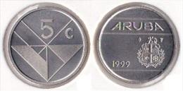 ARUBA   5  CENTIMOS  1.999  NIQUEL-ACERO   KM#1     SC/UNC    DL-11.618 - Otros – América