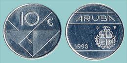 ARUBA   10  CENTIMOS  1.993  NIQUEL-ACERO   KM#2     SC/UNC    DL-11.619 - Monedas