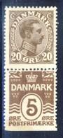 ##Denmark 1922. Coprint . Michel S15. MH(*) - Nuovi