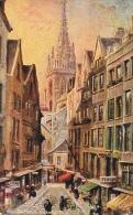 Illustration Raphaël Tuck - St. Saint-Malo - Grande Rue - Carte Oilette Série Bretagne - Tuck, Raphael