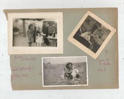 Page D´un Album De Photos , Chatellerault , Kehl 1947 , Poitiers , 1950,  LOT DE 5 PHOTOGRAPHIES, Frais Fr : 2.70€ - Lugares