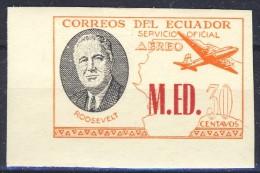 #K2554. Ecuador 1949. Official Stamp. President Roosevelt. Michel 169. MH(*) - Ecuador