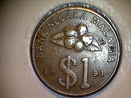 Malaysie 1 Ringit  1991 - Malaysie