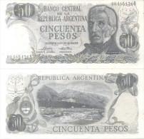 BANCO CENTRAL DE LA REPUBLICA ARGENTINA - CINCUENTA PESOS LEY 18188 BILLETE TBE NUEVO SINUSO NOTE - Argentinië