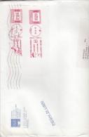 Italia Rep. 2013 - Grande Frammento UICOS X L´interno Affrancato Con 2 Stamps Livio Berruti E LucenLaurent - Affrancature Meccaniche Rosse (EMA)