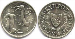 CHIPRE  2 CENTIMOS  1.998  Niquel Laton SC/UNC  KM#54.3   DL-11.622 - Chipre