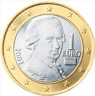 Oostenrijk 2002      1 Euro      UNC Uit De Rol  UNC Du Rouleaux  !! - Autriche