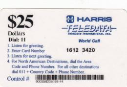 BOSNIA - HARRIS/Teledata International Remote Memory Card $25(used By U.N. Personnei In Bosnia), Used - Bosnia
