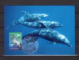 """Carte Maximum Et PAP Neuf D'Australie De 1998 """" PLANET OCEAN : BOTTLENOSE DOLPHIN """" En Parfait état CM - Dolphins"""