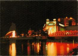SINGAPORE   ANDERSON  BRIDGE AND THE MERLION BY NIGHT      (VIAGGIATA) - Singapore