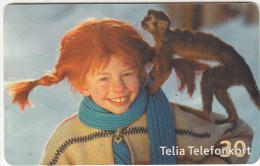 SWEDEN(chip) - Little Girl & Monkey, 05/02, Used - Svezia