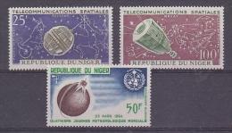 Niger 1964 Space 3v ** Mnh (27297)