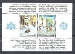 EUROPA-CEPT 1989 - Saint Marin - Bloc Feuillet Avec 2 V NEUF ** (MNH) - Europa-CEPT