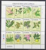 St. Vincent 1992 Medicinal Plants Of The Caribbean 12v In Sheetlet ** Mnh (27299) - St.Vincent (1979-...)