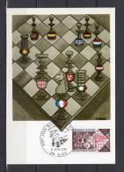 """FRANCE CM De 1974  """" XXI ° JO ECHIQUEENS """" N° YT 1800. Parfait état - Schaken"""